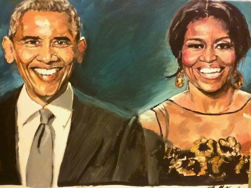 Michelle Obama, Barack Obama por billyhjackson